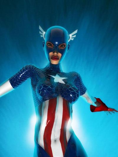 super heróis em forma de super heróinas