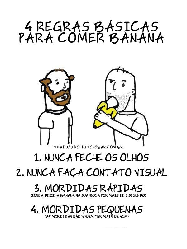 4 regras básicas para comer banana em público