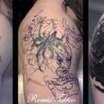 Antes e depois de várias tatuagens horríveis
