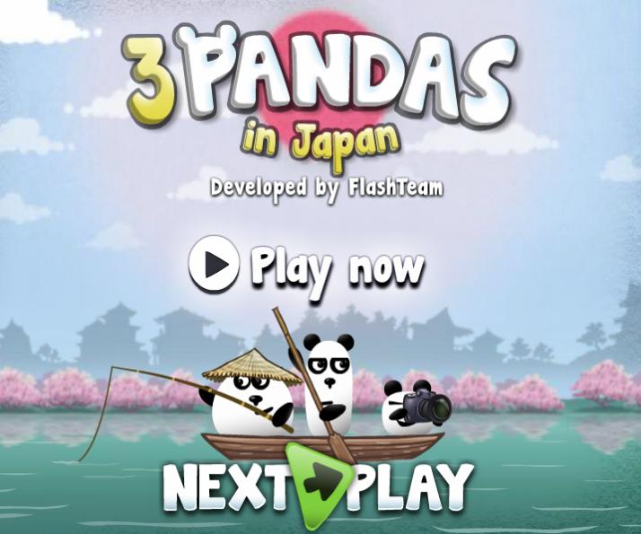 Jogos online - 3 pandas no japão