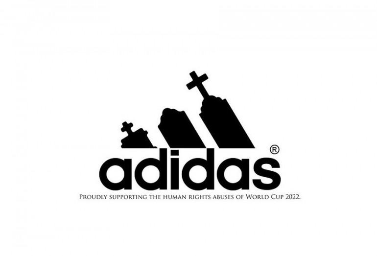 Pessoas criam anti logos para a copa do mundo FIFA no Qatar 2022