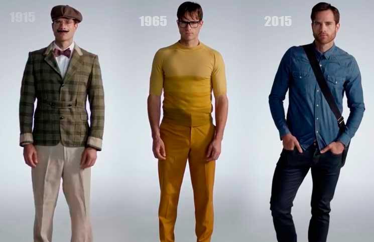 100 anos da evolução da moda masculina