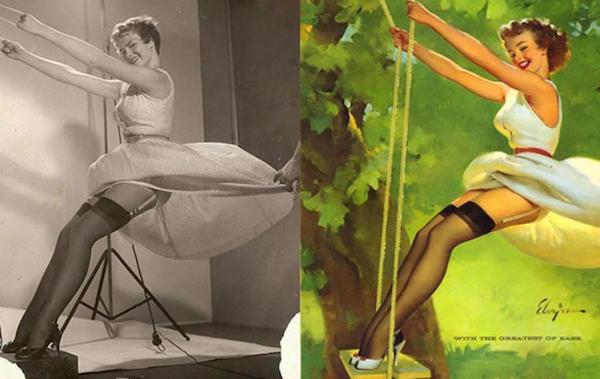 as modelos por trás das clássicas imagens de pinups