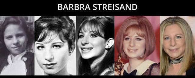 Timeline de envelhecimento barbra streisand