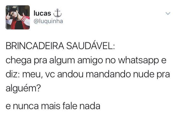 Trollando os amigos no whatsapp