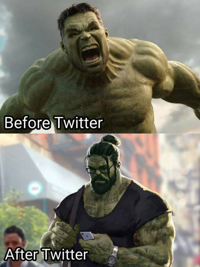 Tem Na Web - Hulk antes e depois do twitter