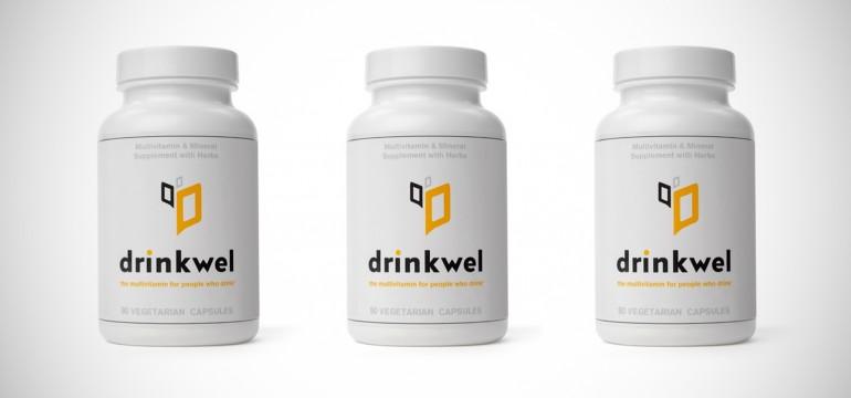 Drinkwel as vitaminas para curar sua ressaca