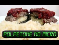 aprenda como fazer polpetone no microondas