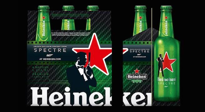 Promoção da edição comemorativa da Heineken light SPECTRE