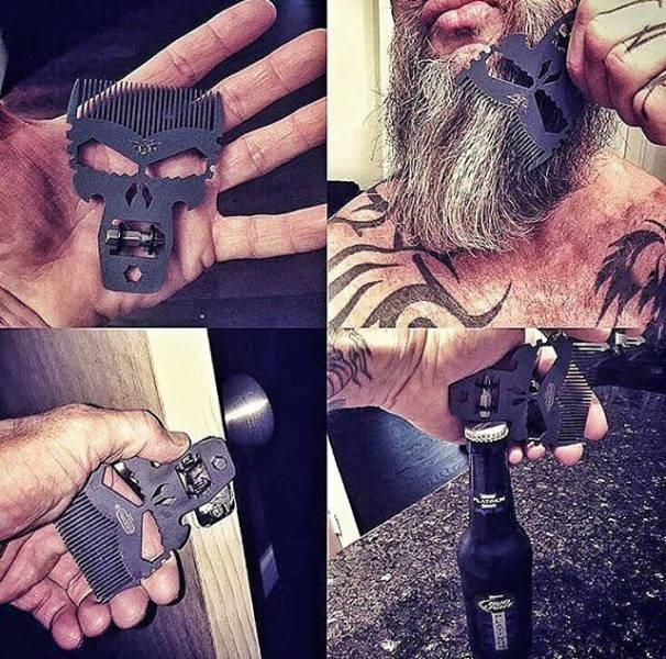 O pente de barba mais másculo do mundo