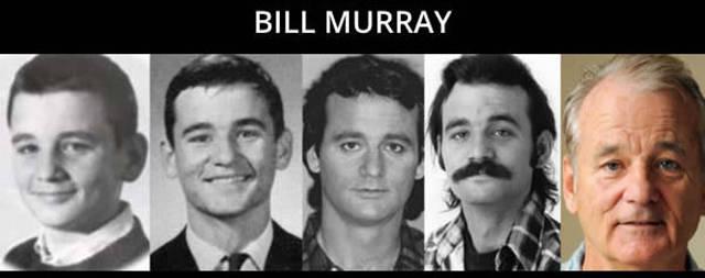 Timeline de envelhecimento de algumas das maiores celebridades
