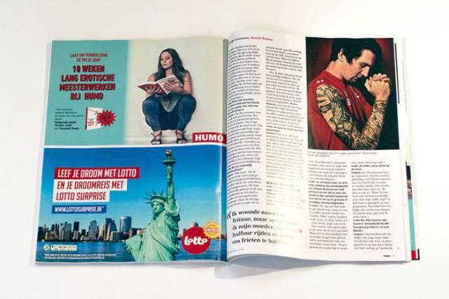 Exemplos de simples anúncios que foram colocados de forma eróticas em uma revista