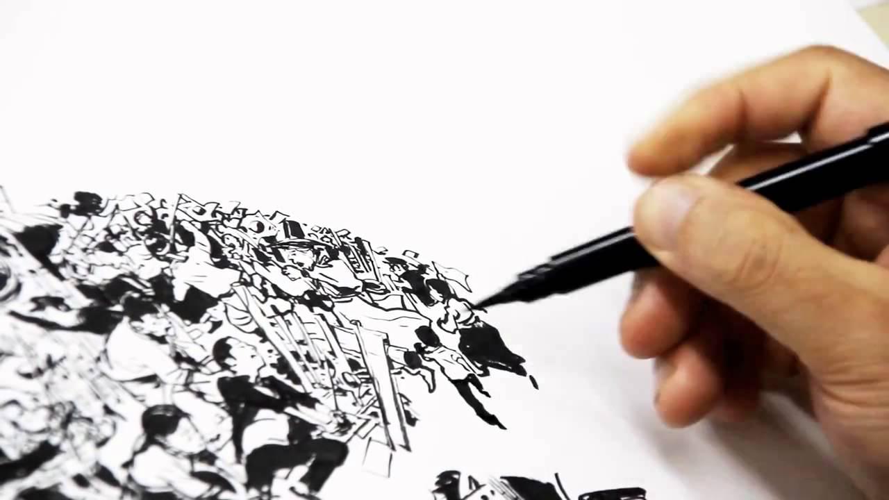 Kim Jung Gi: Incrível demonstração de desenho!